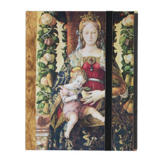 VIRGIN AND CHILD RED RUBY MONOGRAM,Brown Parchment iPad Cases