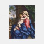 Virgin and Child - Sassoferrato Fleece Blanket