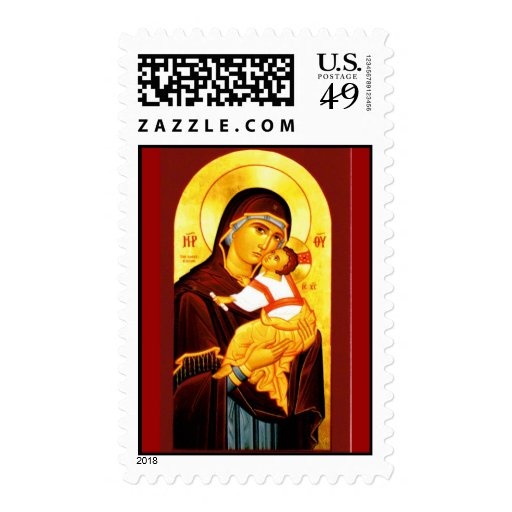 Virgin and Child Stamp