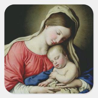 Virgin and Child Sticker