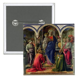Virgin and Child surrounded by Angels Button