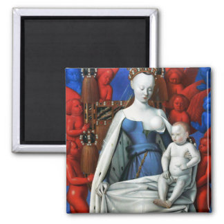 Virgin and Child surrounded by Angels - Fouquet Fridge Magnets