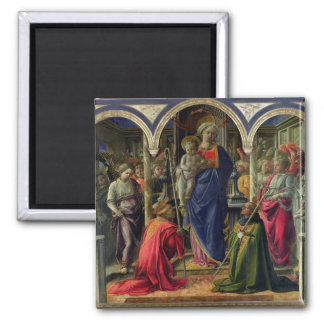 Virgin and Child surrounded by Angels Magnet