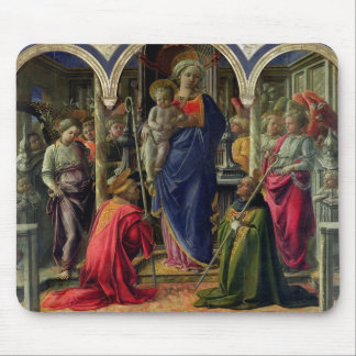 Virgin and Child surrounded by Angels Mouse Pad
