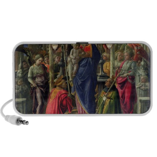 Virgin and Child surrounded by Angels Portable Speaker