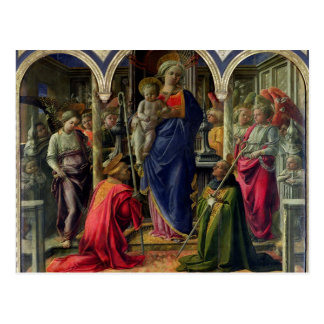 Virgin and Child surrounded by Angels Postcard