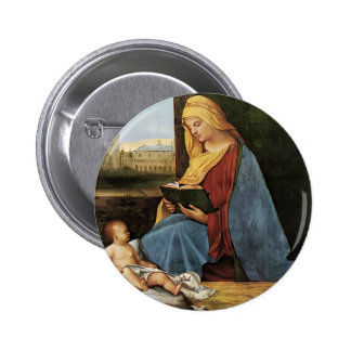 Virgin and Child (Tallard Madonna) by Giorgione Pinback Buttons
