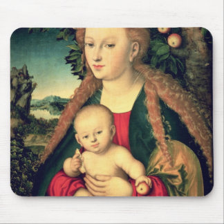 Virgin and Child under an Apple Tree Mouse Pad