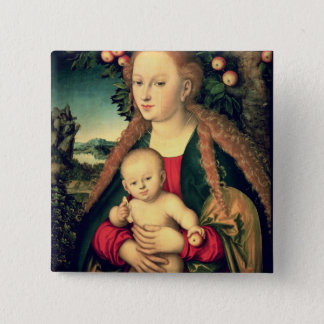 Virgin and Child under an Apple Tree Pinback Button