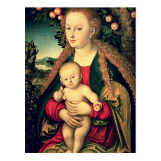 Virgin and Child under an Apple Tree Postcard