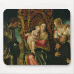 Virgin and Child with a Benedictine monk Mouse Pad