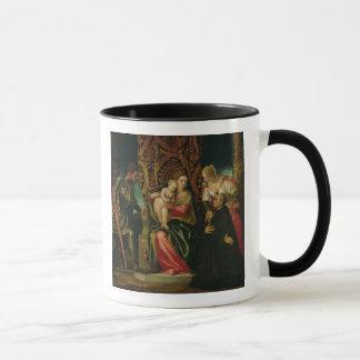 Virgin and Child with a Benedictine monk Mug
