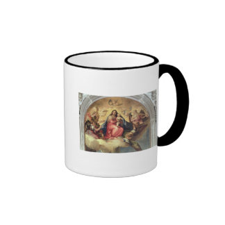 Virgin and Child with angel musicians Ringer Coffee Mug