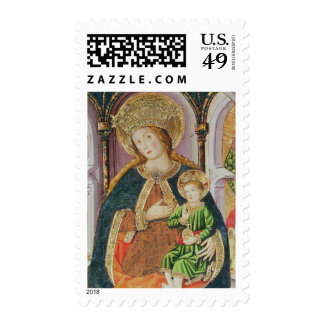 Virgin and Child with Angel Musicians Stamp