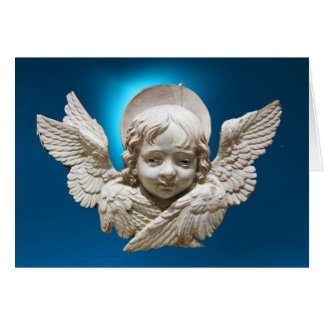VIRGIN AND CHILD WITH ANGELS CARD