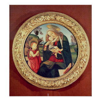Virgin and Child with John the Baptist Poster