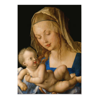 Virgin and Child with Pear by Albrecht Durer Card