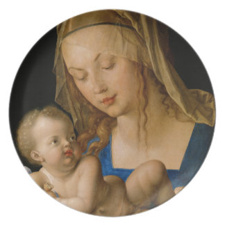 Virgin and Child with Pear by Albrecht Durer Party Plates
