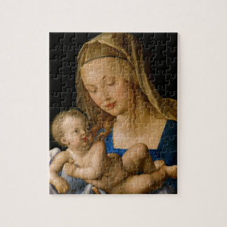 Virgin and Child with Pear by Albrecht Durer Puzzle