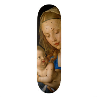 Virgin and Child with Pear by Albrecht Durer Skateboard Deck