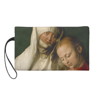 Virgin and Child with Saint Anne by Durer Wristlet Purse