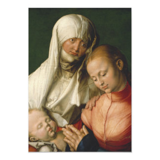 Virgin and Child with Saint Anne by Durer Card