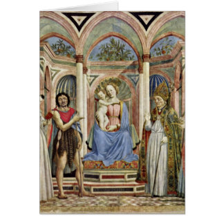 Virgin And Child With Saints By Domenico Veneziano Greeting Cards