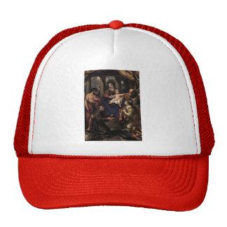 Virgin and Child with Saints by Pietro da Cortona Hat