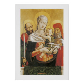 Virgin and Child with Saints Paul and Jerome Poster