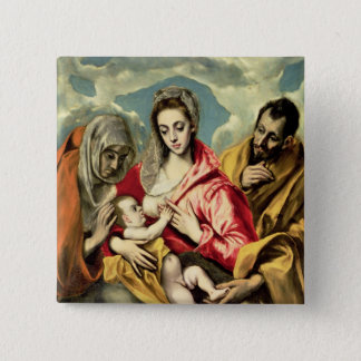 Virgin and Child with SS. Anne and Joseph Button
