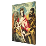 Virgin and Child with SS. Anne and Joseph Stretched Canvas Print