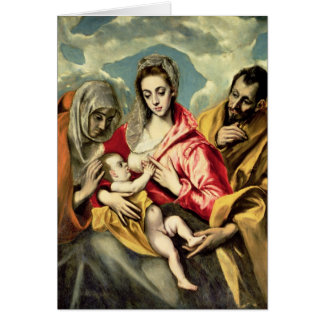 Virgin and Child with SS. Anne and Joseph Card
