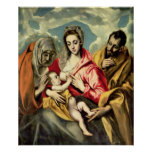 Virgin and Child with SS. Anne and Joseph Posters