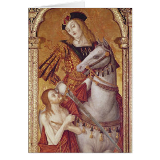Virgin and Child with SS Gregory and Martin Cards