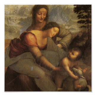 Virgin and Child with St. Anne and Lamb by DaVinci Print