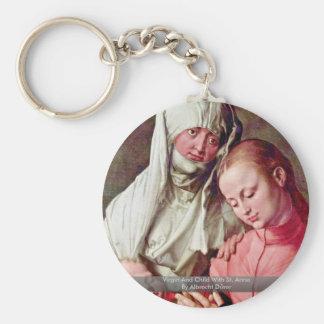 Virgin And Child With St. Anne By Albrecht Dürer Keychains