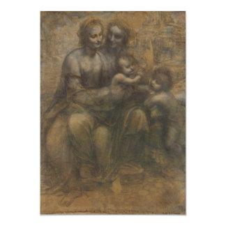 Virgin and Child with St Anne by Leonardo da Vinci Card