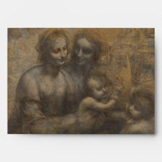 Virgin and Child with St Anne by Leonardo da Vinci Envelope