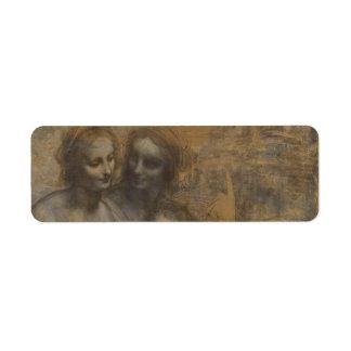 Virgin and Child with St Anne by Leonardo da Vinci Label
