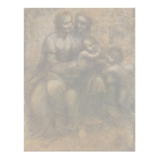 Virgin and Child with St Anne by Leonardo da Vinci Letterhead