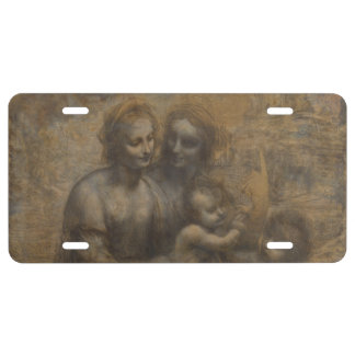 Virgin and Child with St Anne by Leonardo da Vinci License Plate