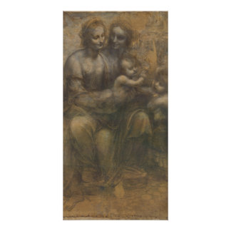 Virgin and Child with St Anne by Leonardo da Vinci Customized Photo Card
