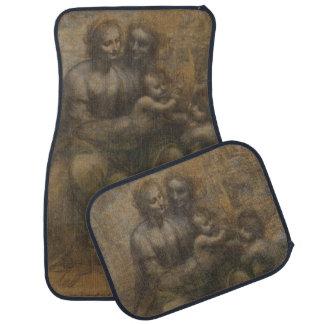 Virgin and Child with St Anne by Leonardo da Vinci Floor Mat