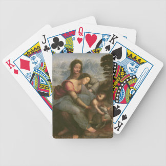 Virgin and Child with St. Anne, c.1510 Bicycle Playing Cards
