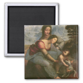 Virgin and Child with St Anne c 1510 Magnet