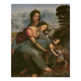 Virgin and Child with St. Anne, c.1510 Poster