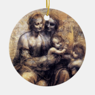 Virgin and Child with St. Anne sketch Ceramic Ornament