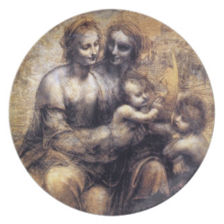 Virgin and Child with St. Anne sketch Dinner Plate
