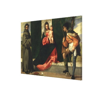 Virgin and Child with St. Anthony of Padua Canvas Print