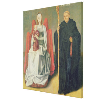Virgin and Child with St. Benedict Canvas Print